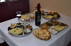 India Palace Table with Food